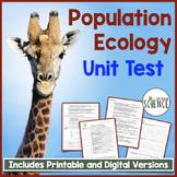Population Ecology Unit Test
