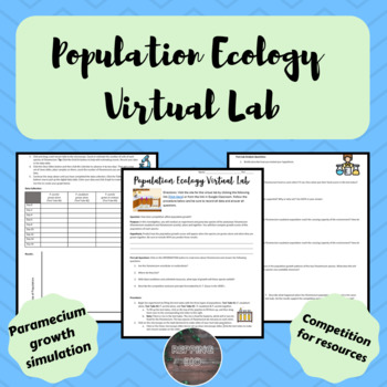 Population Ecology Activities Worksheets Teachers Pay