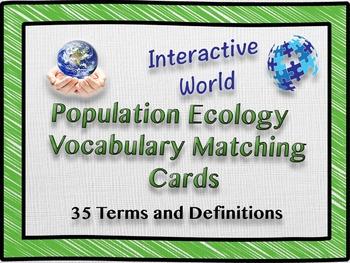 Population Ecology Vocabulary Matching Cards