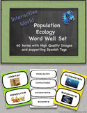 Population Ecology Word Wall with Spanish Tags