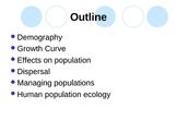 Population Ecology and Demographics