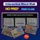 Science Population & Ecosystems Interactive Word Wall NO PREP