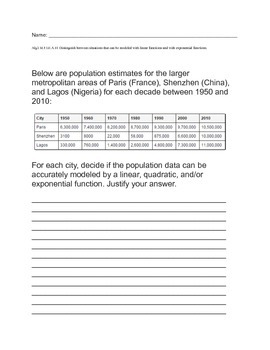 Population Functions