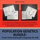 Population Genetics Bundle: Power Point and Differentiated Graphic Organizer INB