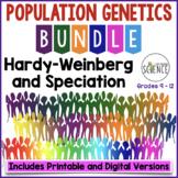 Population Genetics Hardy Weinberg Speciation Bundle | Printable and Digital