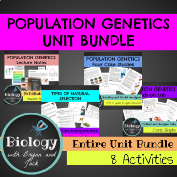 Population Genetics Unit Bundle
