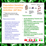 Population Genetics and Speciation Learning Package for AP/Advanced Biology