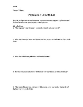 Population Growth Lab