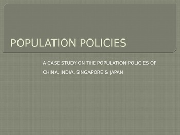 Population Policies Power Point Presentation