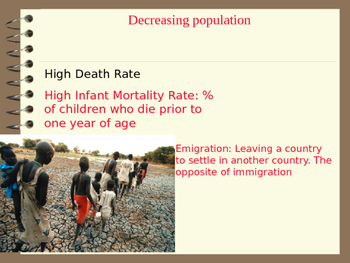 Population Powerpoint including Density, Birth Death Rate, life expectancy