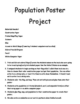 Population Project - Place Value