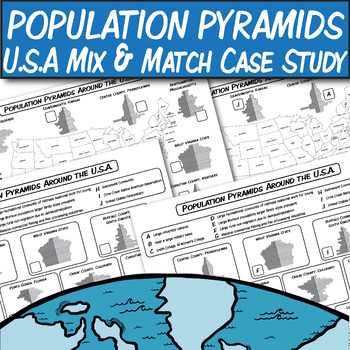 Population Pyramids: U.S.A. Case Studies *Matching Worksheets*