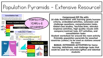 Population Pyramids - Extensive Resource