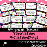 Population Relationships - Science Scavenger Quest