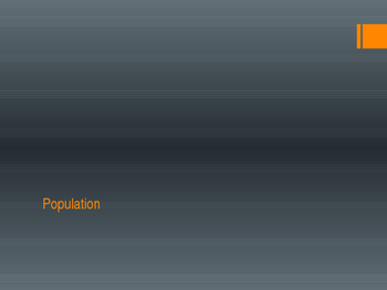 Population and Migration ppt