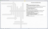 Populations Crossword Puzzle (electronically fillable & pr