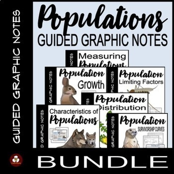 Populations Guided Graphic Notes BUNDLE