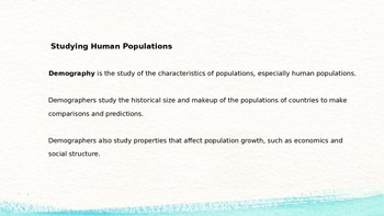 Populations Power point