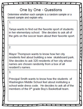 Populations and Samples - 7th Grade Statistics