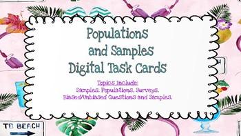 Populations and Samples *DIGITAL* task cards-Google Slides Google Forms