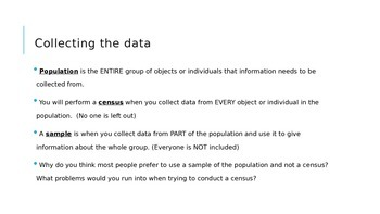Populations and Samples Definitions