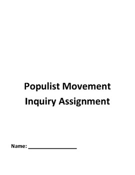 Populism Populist Inquiry Common Core Regents