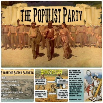 Populism, The Populist Party, and Bimetalism PowerPoint