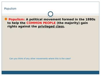 Populism US History PPT
