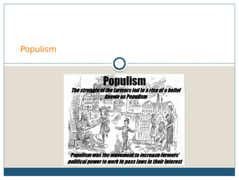 Populism US History PPT