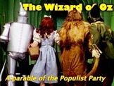 Populism & Wizard of Oz Connection PowerPoint & Handout