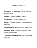 Por Para Notes and Practices with Answer Keys