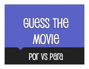 Por Vs Para Guess the Movie