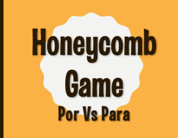 Por Vs Para Honeycomb Partner Game