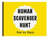 Por Vs Para Human Scavenger Hunt