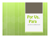 Por Vs Para Notes With Video for Distance Learning