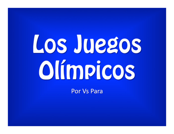 Por Vs Para Olympics