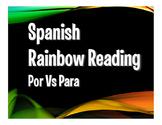Por Vs Para Rainbow Reading
