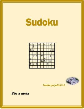 Por a mesa (Set the table in Portuguese) Sudoku