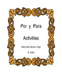 Por and Para Activities