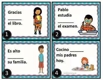 Por and Para Spanish Grammar Task Cards
