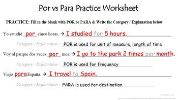 Por vs Para (FOR): Spanish Quick Lesson