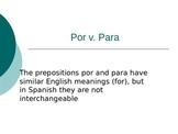 Por vs. Para Powerpoint