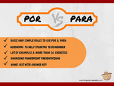 Por vs Para Presentations & Worksheets