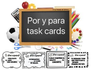 Por vs. Para Task Cards