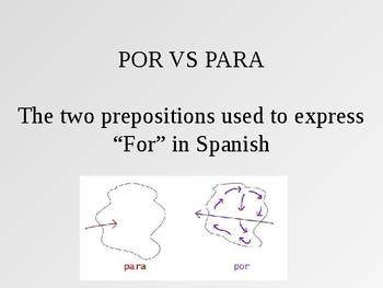 Por vs Para ppt