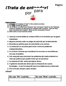 """Por y para notes with Avancemos 3, """"Para tu amor"""" by Juanes"""