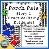 Porch Pals Story 1 Reading Passage and Constructed Respons