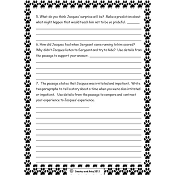 Porch Pals Story 3 Reading Passage and Constructed Response Practice Packet