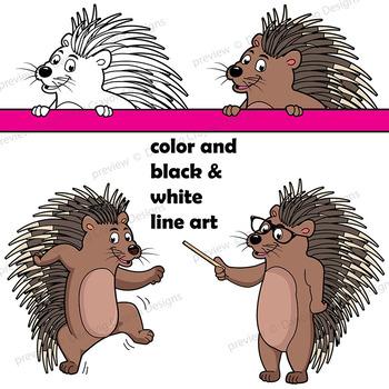 Porcupine Clip Art   Porcupine with Signs