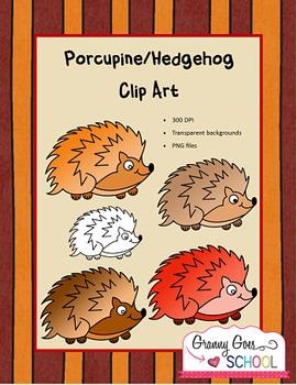 Porcupine/Hedgehog Clip Art